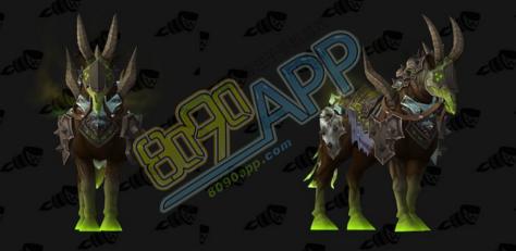 魔兽世界7.2虚空领主的诅咒愤怒战马