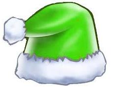 朋友圈绿色圣诞帽