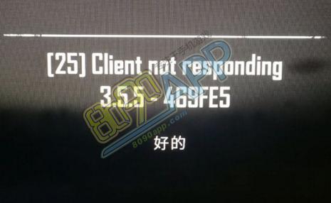 绝地求生client not responding